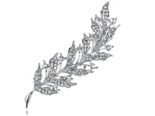 Load image into Gallery viewer, Feather Leaf Sliver Holiday Pin Brooch