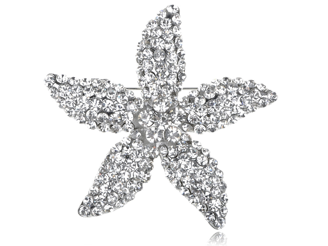 Star Lily Flower Starfish Pin Brooch