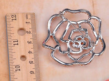 Load image into Gallery viewer, Royal White Enamel Flower Brooch Pin