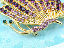 Load image into Gallery viewer, Twisted Amethyst Purple Butterfly Insect Pin Brooch