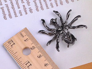 Pirate Gun Black Jeweled Spider Insect Pin Brooch