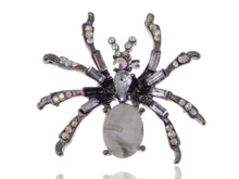 Load image into Gallery viewer, Pirate Gun Black Jeweled Spider Insect Pin Brooch