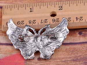 Vintage Inspire Carved Butterfly Pin Brooch
