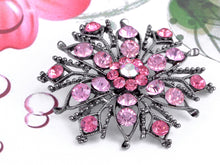Load image into Gallery viewer, Gun Pink Flower Snowflake Crest Wheel Brooch Pin