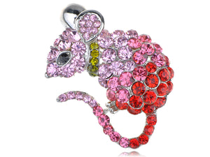 Mouse Rat Pet Ombre Animal Critter Pin Brooch