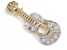Load image into Gallery viewer, Colored Acoustic Guitar Brooch Pin