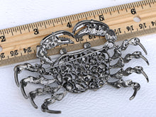 Load image into Gallery viewer, Dangerous Sinewy Rose Crab Jewelry Pin Brooch
