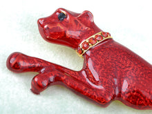 Load image into Gallery viewer, Enamel Leopard Cougar Brooch Pin
