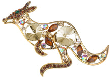Load image into Gallery viewer, Topaz Colored Australian Kangaroo Cutout Brooch Pin