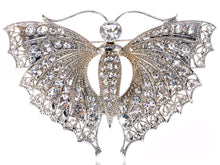Load image into Gallery viewer, Vintage Silver D Butterfly Moth Insect Convertible To Pendant Brooch Pin