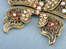 Load image into Gallery viewer, Magnificent Detailed Smoked Topaz Empress Butterfly Pin Brooch