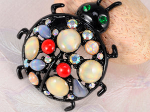 Multicolor Ladybug Insect Jewelry Brooch Pin