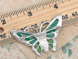 Turquoise Green Butterfly Brooch Pin