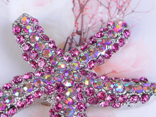 Load image into Gallery viewer, Hot Neon Fuchsia Pink Ocean Star Beach Starfish Pin Brooch