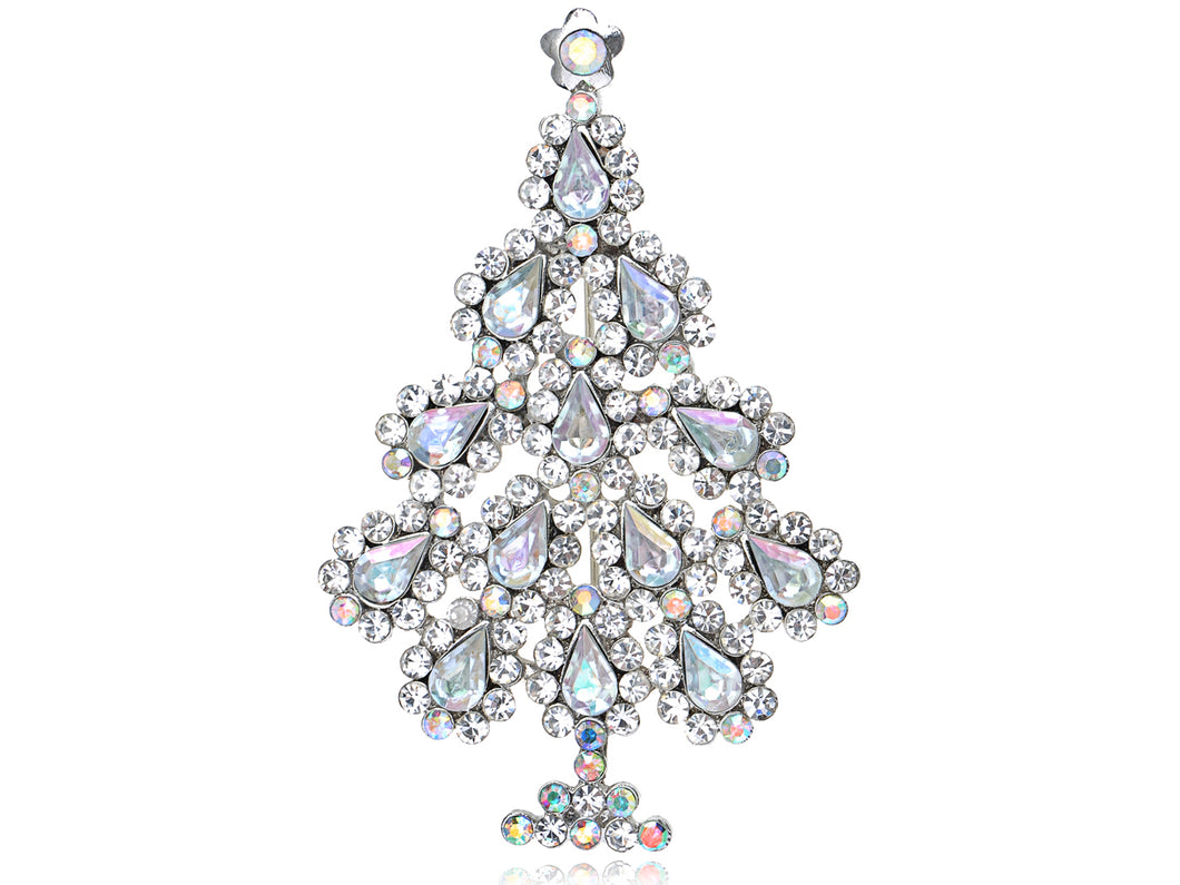 Shimmering Holiday Christmas Tree Able Pin Brooch