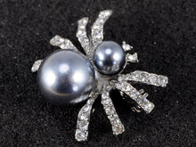 Load image into Gallery viewer, Petite Pearl Opaque Spider Queen Insect Pin Brooch