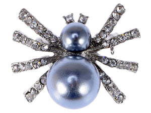 Petite Pearl Opaque Spider Queen Insect Pin Brooch