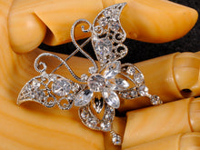 Load image into Gallery viewer, Petite Dazzling Happy Butterfly Pin Brooch