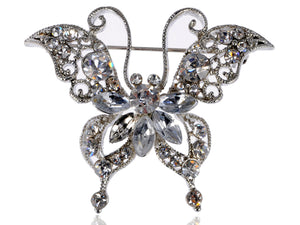 Petite Dazzling Happy Butterfly Pin Brooch