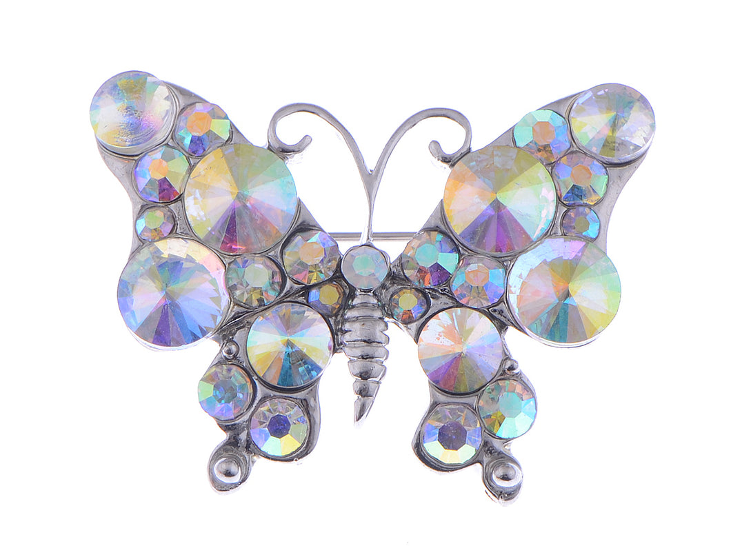 Interesting Petite Wild Colors Aurore Boreale Fly Butterfly Pin Brooch