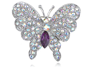 Iridescent Butterfly Insect Brooch Pin