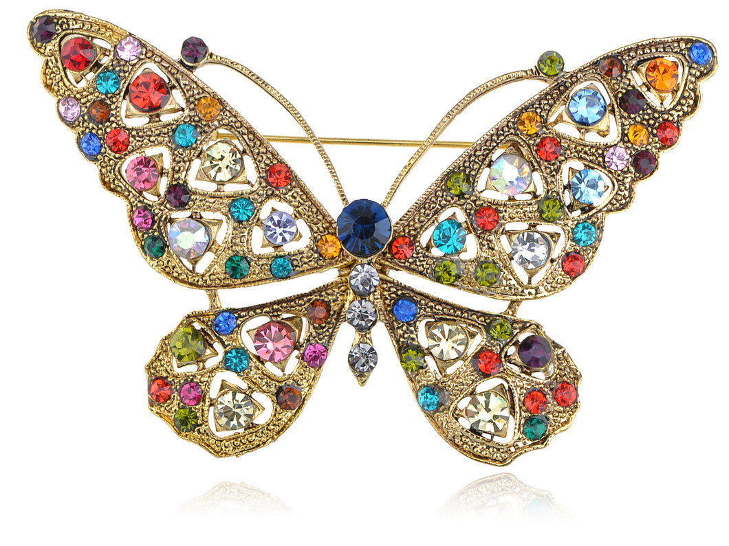 Perfect Color Rainbow Bright Butterfly Pin Brooch