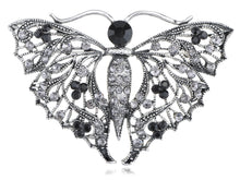 Load image into Gallery viewer, Black Violet Abstract Wings Butterfly Pin Brooch