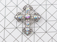 Load image into Gallery viewer, Antique Multi Colorful Holy Cross Brooch Pin