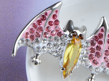 Load image into Gallery viewer, Silver Halloween Ombre Pink Vampire Bat Wing Animal Brooch Pin