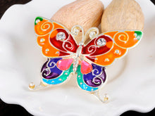 Load image into Gallery viewer, Bright Enamel Handpainted Wing Bold Butterfly Bug Pin Brooch
