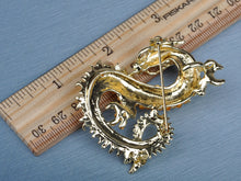 Load image into Gallery viewer, Antique Topaz Chinese Dragon Brooch Pin