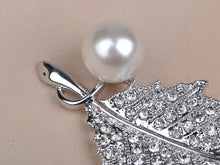Load image into Gallery viewer, Studded Pearl Leaflet Petal Pin Brooch