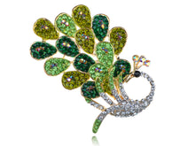 Load image into Gallery viewer, Dancing Peacock Feather Bird Pin Brooch Jewelry