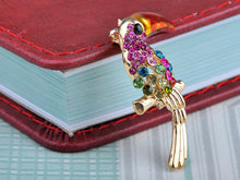 Load image into Gallery viewer, Fuchsia Colorful Ropical Bird Pin Brooch