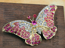 Load image into Gallery viewer, Pink Butterfly Insect Brooch Pin