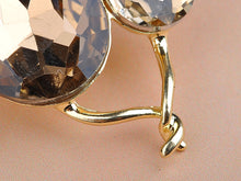 Load image into Gallery viewer, Light Smoked Topaz Kitty Cat Animal Brooch Pin