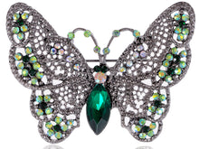 Load image into Gallery viewer, Antique Green Butterfly Insect Brooch Pin