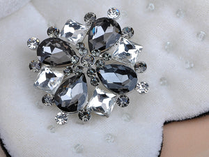Beautiful Morion Square Circle Teardrop Pin Brooch