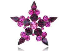 Load image into Gallery viewer, Amethyst Five Point Star Symbol Necklace Pendant Pin Brooch