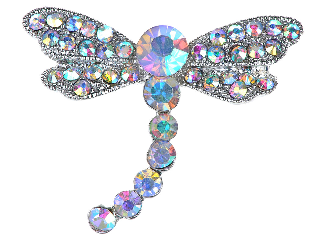 Iridescent Dragonfly Insect Wings Brooch Pin