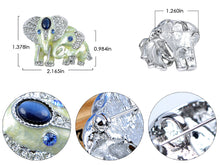 Load image into Gallery viewer, Elements Sapphire Eyed Pearlescent Paint Elephants Pin Brooch