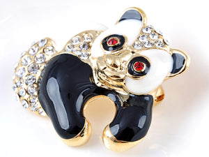 Elements Hugging Zoo Panda Bear Pin Brooch