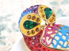 Load image into Gallery viewer, Elements Rainbow Pride Colorful Gems Meek Owl Bird Pin Brooch