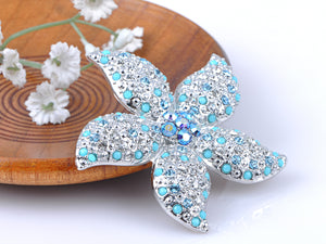 Elements Turquoise Bead Stargazer Lily Flower Pin Brooch