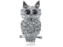 Load image into Gallery viewer, Elements Gun Evil Staring Owl Bird Pin Brooch