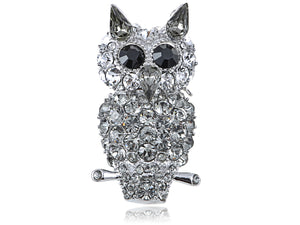 Elements Gun Evil Staring Owl Bird Pin Brooch