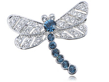 Load image into Gallery viewer, Elements Captivate Sapphire Blue Petite Dragonfly Pin Brooch