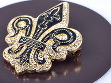 Load image into Gallery viewer, Black Gothic Medieval Royal Fleur De Lis Lily Brooch Pin