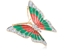Load image into Gallery viewer, Elements Fire N Earth Fluttering Butterfly Pin Brooch