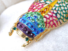Load image into Gallery viewer, Filigree Insect Beetle Bug Rainbow Pride Convertible To Pendant Brooch Pin